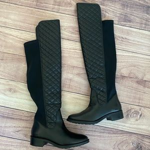 Andre Assous leather quilted stagecoach boots 8